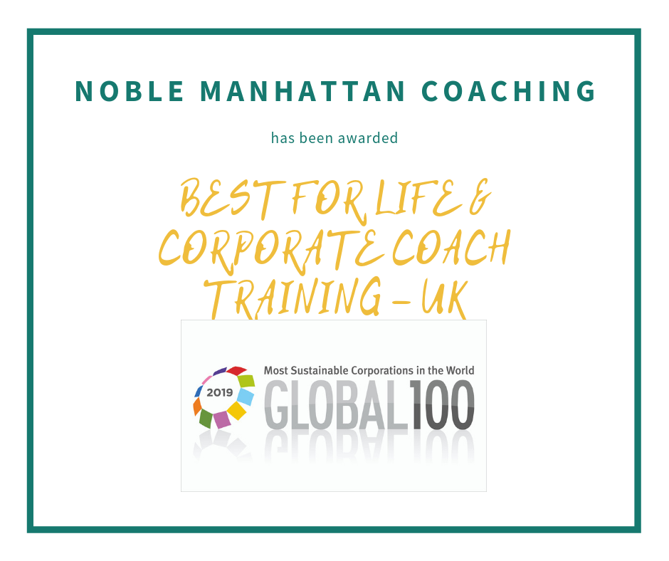 Best Company for Life and Corporate Coach Training 2019 Noble Manhattan Coaching
